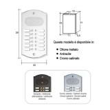 Citofono campanello 12 NOMI Mod. 12PLMORO/A ottone antracite Alta Qualità Morelli