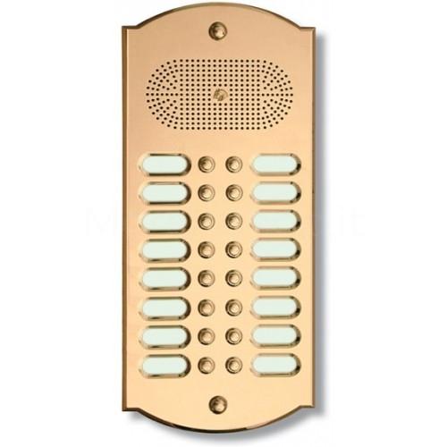 Citofono campanello 16 NOMI Mod. 16PLMORO/CPT ottone Alta Qualità Morelli