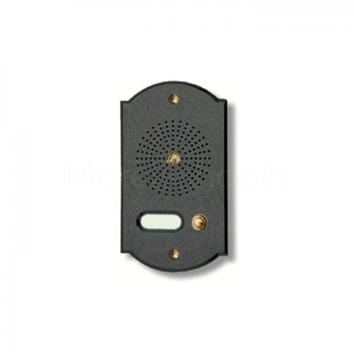 Citofono campanello 1 NOME Mod. 1PLMORO/A ottone antracite Alta Qualità Morelli