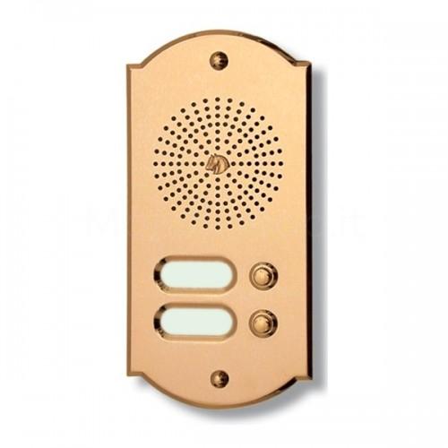 Citofono campanello 2 NOMI Mod. 2PLMORO/CPT ottone Alta Qualità Morelli