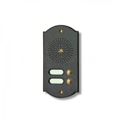 Citofono campanello 2 NOMI Mod. 2PLMORO/A ottone antracite Alta Qualità Morelli