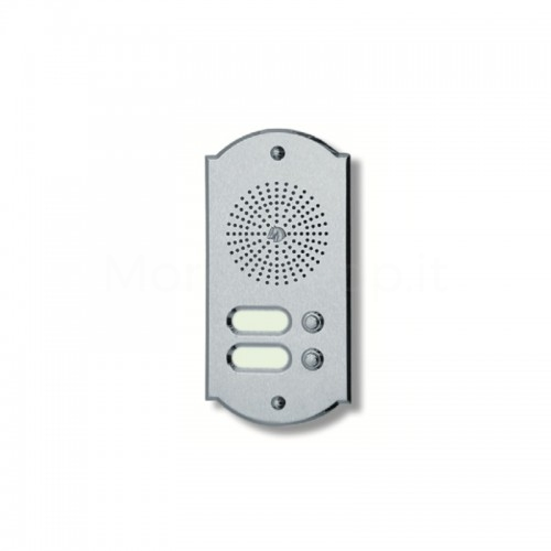 Citofono campanello 2 NOMI Mod. 2PLMORO/K ottone cromo satinato Alta Qualità Morelli