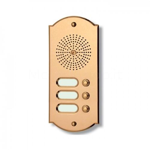 Citofono campanello 3 NOMI Mod. 3PLMORO/CPT ottone Alta Qualità Morelli
