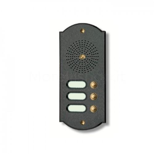 Citofono campanello 3 NOMI Mod. 3PLMORO/A ottone antracite Alta Qualità Morelli