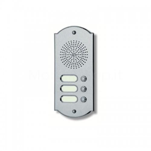 Citofono campanello 3 NOMI Mod. 3PLMORO/K ottone cromo satinato Alta Qualità Morelli