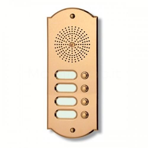 Citofono campanello 4 NOMI Mod. 4PLMORO/CPT ottone Alta Qualità Morelli