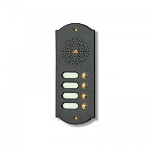 Citofono campanello 4 NOMI Mod. 4PLMORO/A ottone antracite Alta Qualità Morelli