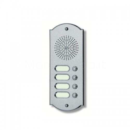 Citofono campanello 4 NOMI Mod. 4PLMORO/K ottone cromo satinato Alta Qualità Morelli