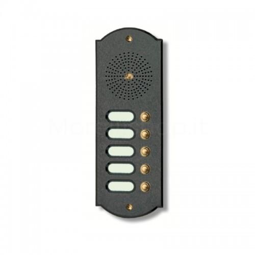 Citofono campanello 5 NOMI Mod. 5PLMORO/A ottone antracite Alta Qualità Morelli