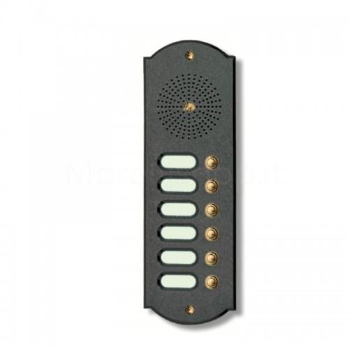 Citofono campanello 6 NOMI Mod. 6PLMORO/A ottone antracite Alta Qualità Morelli