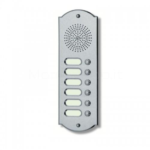 Citofono campanello 6 NOMI Mod. 6PLMORO/K ottone cromo satinato Alta Qualità Morelli