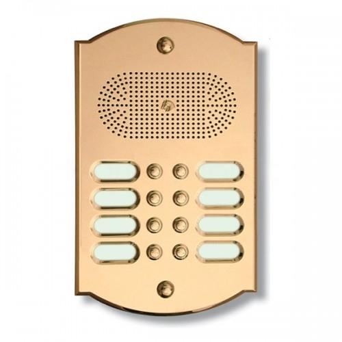 Citofono campanello 8 NOMI Mod. 8PLMORO/CPT ottone Alta Qualità Morelli