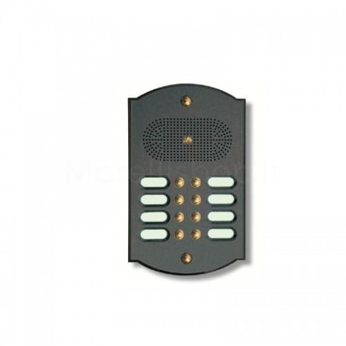 Citofono campanello 8 NOMI Mod. 8PLMORO/A ottone antracite Alta Qualità Morelli