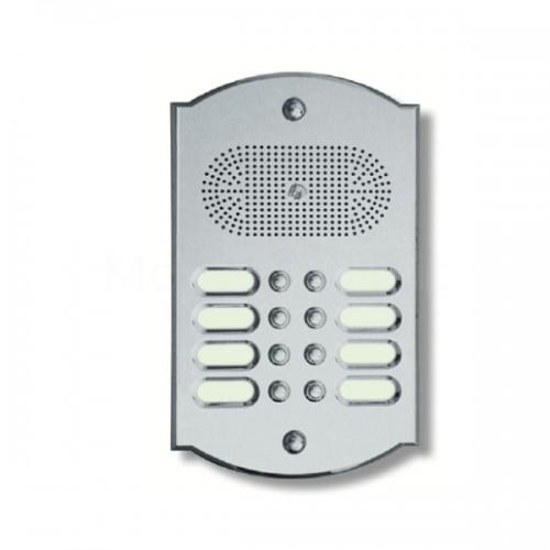 Citofono campanello 8 NOMI Mod. 8PLMORO/K ottone cromosatinato Alta Qualità Morelli