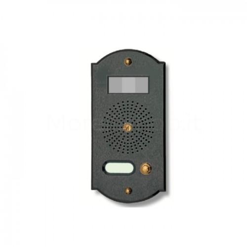 Videocitofono campanello 1 NOME antracite base ottone Alta Qualità Morelli