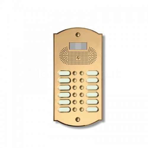 Videocitofono campanello 12 NOMI ottone Alta Qualità Morelli