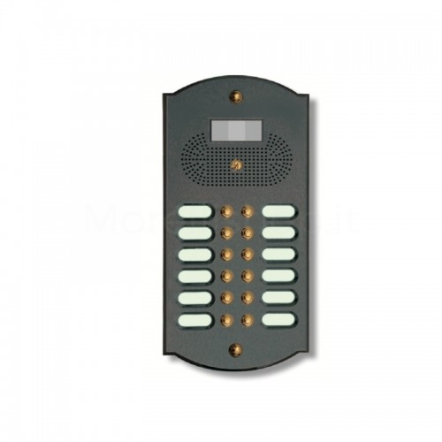 Videocitofono campanello 12 NOMI antracite base ottone...