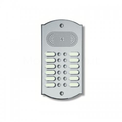 Videocitofono campanello 12 NOMI ottone cromosatinato Alta Qualità Morelli