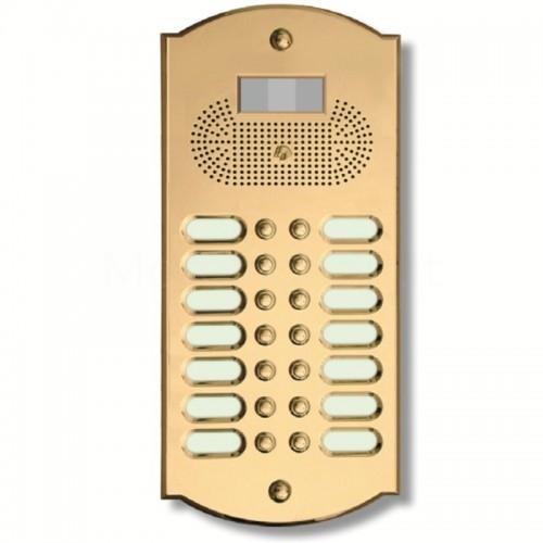 Videocitofono campanello 14 NOMI ottone Alta Qualità Morelli