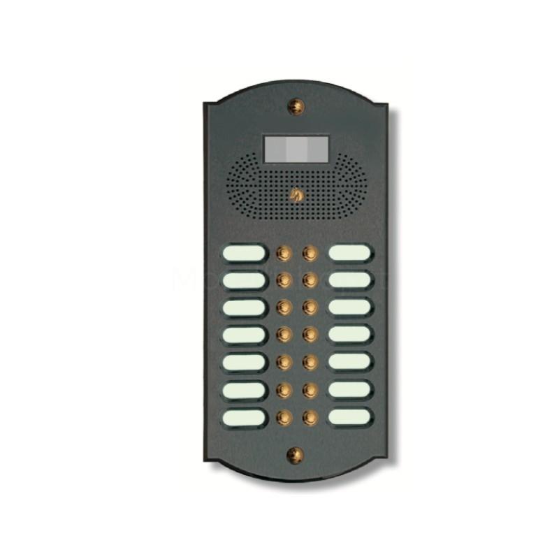 Videocitofono campanello 14 NOMI antracite base ottone Alta Qualità Morelli