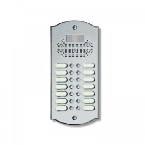 Videocitofono campanello 14 NOMI ottone cromosatinato base ottone Alta Qualità Morelli