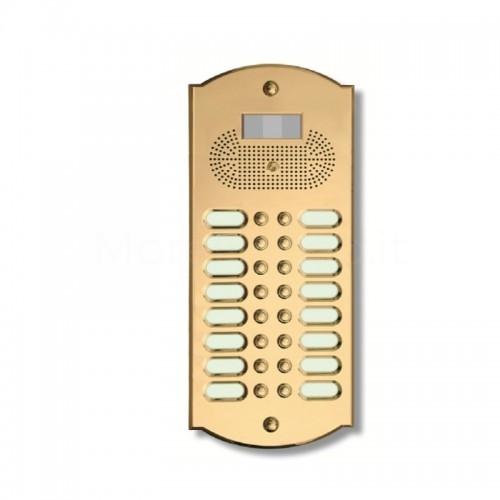 Videocitofono campanello 16 NOMI ottone Alta Qualità Morelli