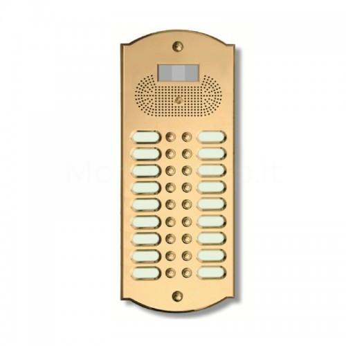 Videocitofono campanello 18 NOMI ottone Alta Qualità Morelli