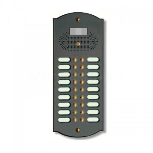 Videocitofono campanello 18 NOMI antracite base ottone Alta Qualità Morelli