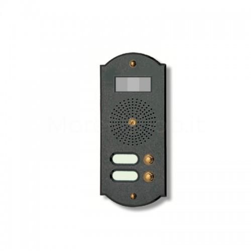 Videocitofono campanello 2 NOMI antracite base ottone...