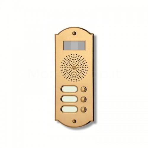 Videocitofono campanello 3 NOMI ottone Alta Qualità Morelli
