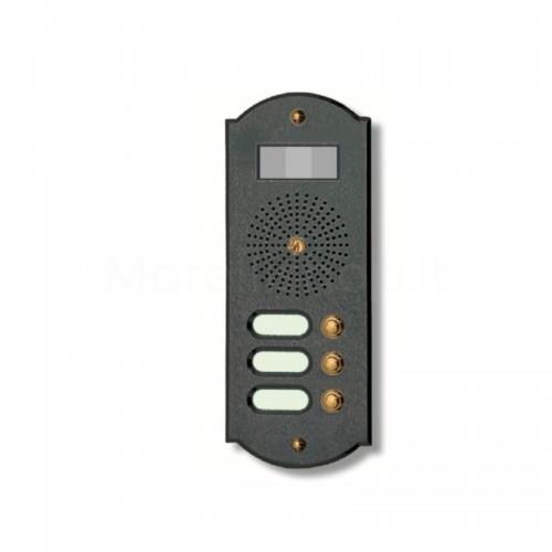Videocitofono campanello 3 NOMI antracite base ottone Alta Qualità Morelli