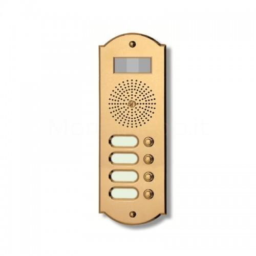 Videocitofono campanello 4 NOMI ottone Alta Qualità Morelli