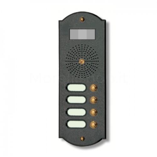 Videocitofono campanello 4 NOMI antracite base ottone Alta Qualità Morelli