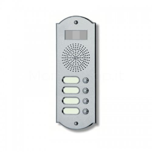 Videocitofono campanello 4 NOMI ottone cromosatinato Alta...