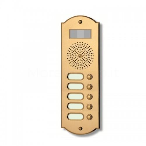 Videocitofono campanello 5 NOMI ottone Alta Qualità Morelli