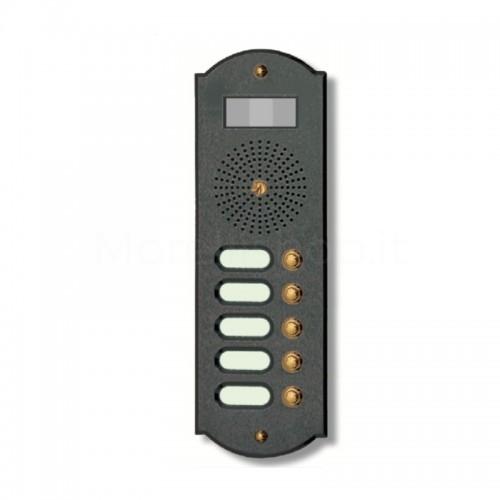 Videocitofono campanello 5 NOMI antracite base ottone...