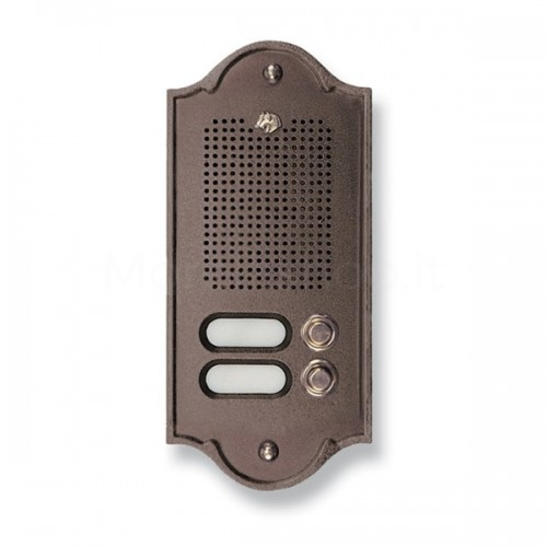 Citofono campanello 2 NOMI testa di moro base ottone Serie Perla Morelli