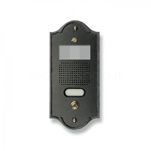 Pulsantiera per videocitofono antracite 1 NOME Mod. 1PLMVIDEO/A Serie Perla Morelli