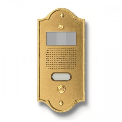 Pulsantiera per videocitofono ottone lucido 1 NOME Mod. 1PLMVIDEO/O Serie Perla Morelli