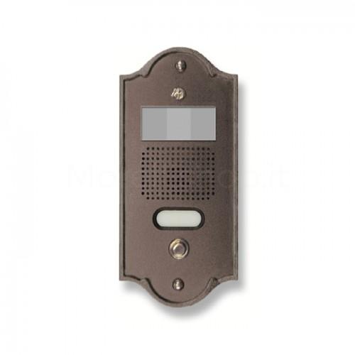 Pulsantiera per videocitofono testa di moro 1 NOME Mod. 1PLMVIDEO/TM Serie Perla Morelli