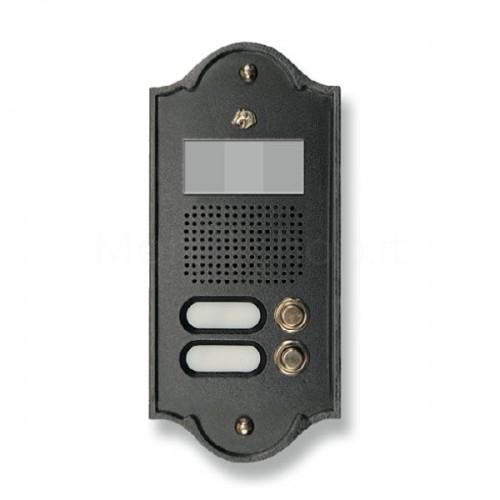 Pulsantiera per videocitofono antracite 2 NOMI Mod. 2PLMVIDEO/A Serie Perla Morelli