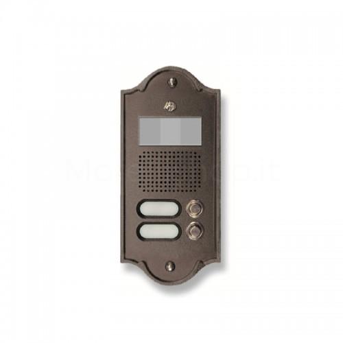 Pulsantiera per videocitofono testa di moro 2 NOMI Mod. 2PLMVIDEO/TM Serie Perla Morelli