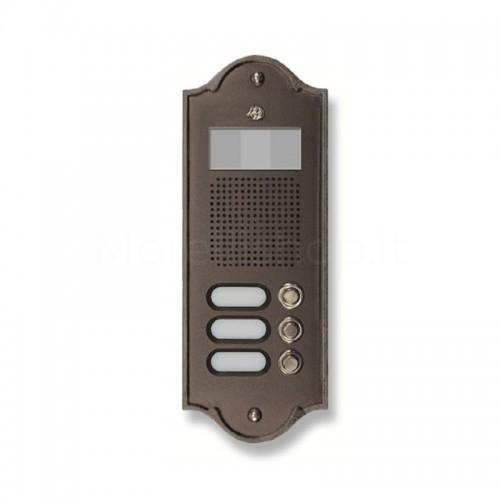 Pulsantiera per videocitofono testa di moro 3 NOMI Mod. 3PLMVIDEO/TM Serie Perla Morelli