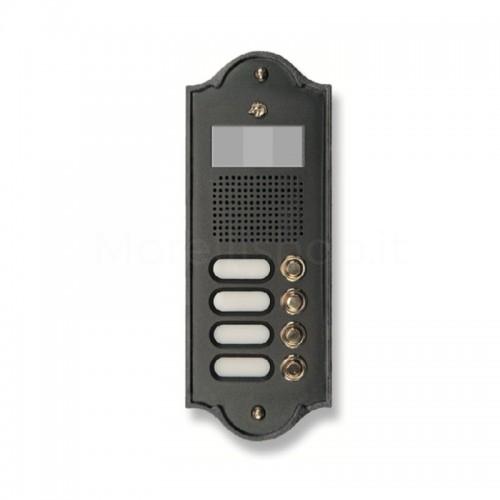 Pulsantiera per videocitofono antracite 4 NOMI Mod. 4PLMVIDEO/A Serie Perla Morelli