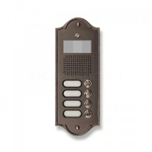 Pulsantiera per videocitofono testa di moro 4 NOMI Mod. 4PLMVIDEO/TM Serie Perla Morelli
