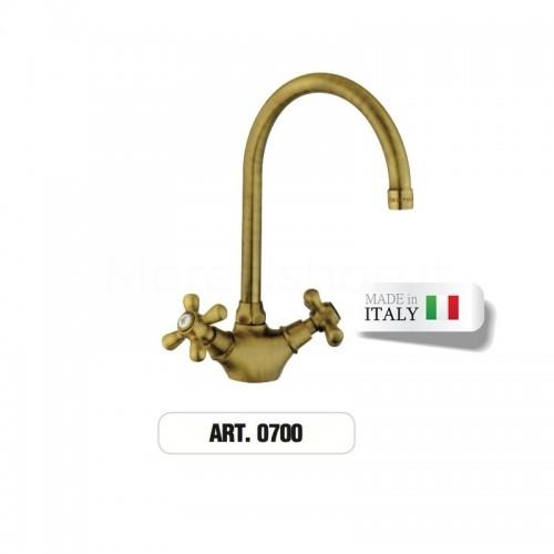 Rubinetto monoforo ottone gruppo lavabo ART.0700 Morelli