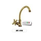 Rubinetto monoforo ottone gruppo lavabo ART.0705 Morelli