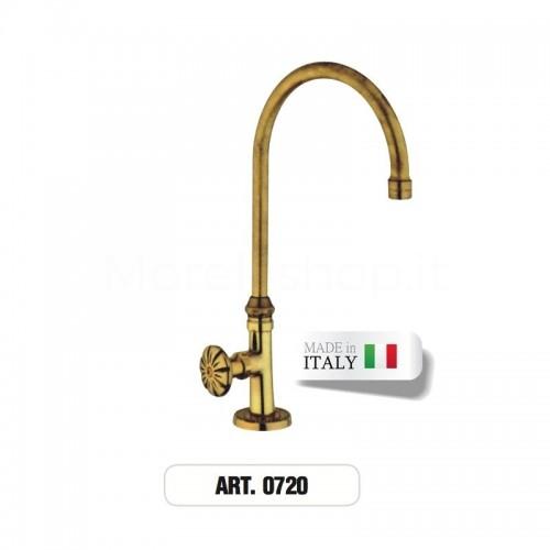 Rubinetto monoforo ottone gruppo lavabo ART. 0720 Morelli