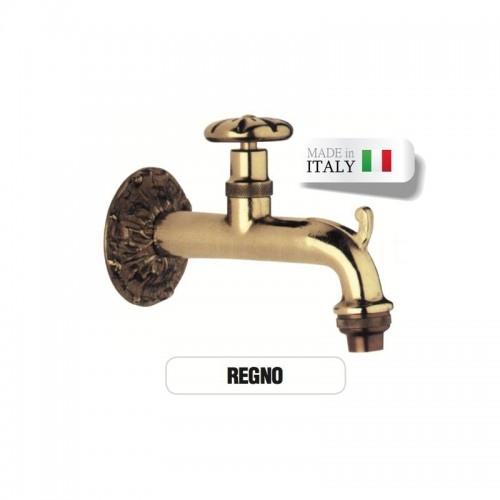 Rubinetto in ottone Mod. REGNO con portagomma Morelli