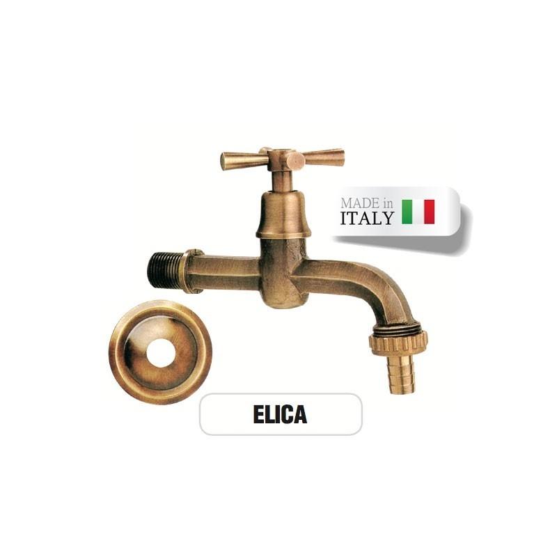 Rubinetto in ottone Mod. ELICA con portagomma Morelli